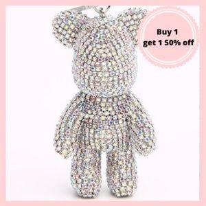 COPY - sparkly bear diamond keychain
